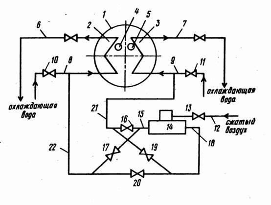 Двухсекционный теплообменник рисунок теплообменник воздушно-масляный