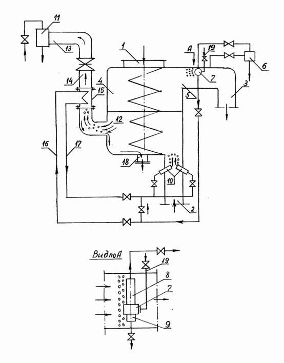 Схема конденсатора паровой