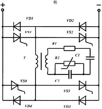 б) электрическая схема