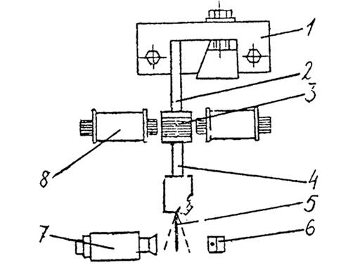 Кинематическая схема установки.