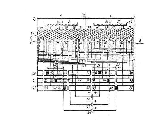 Принципиальная схема электрической машины постоянного тока.