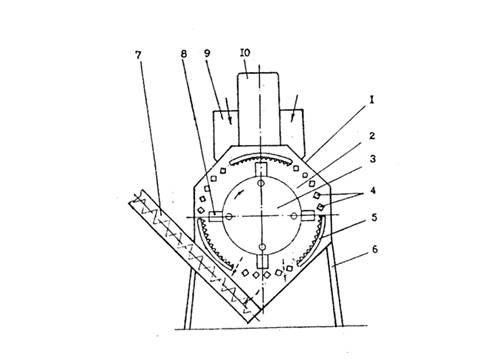 Схема дробилки фуражного зерна