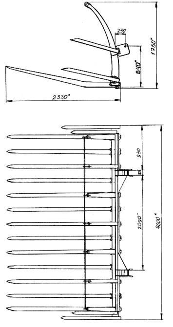 Схема и основные размеры